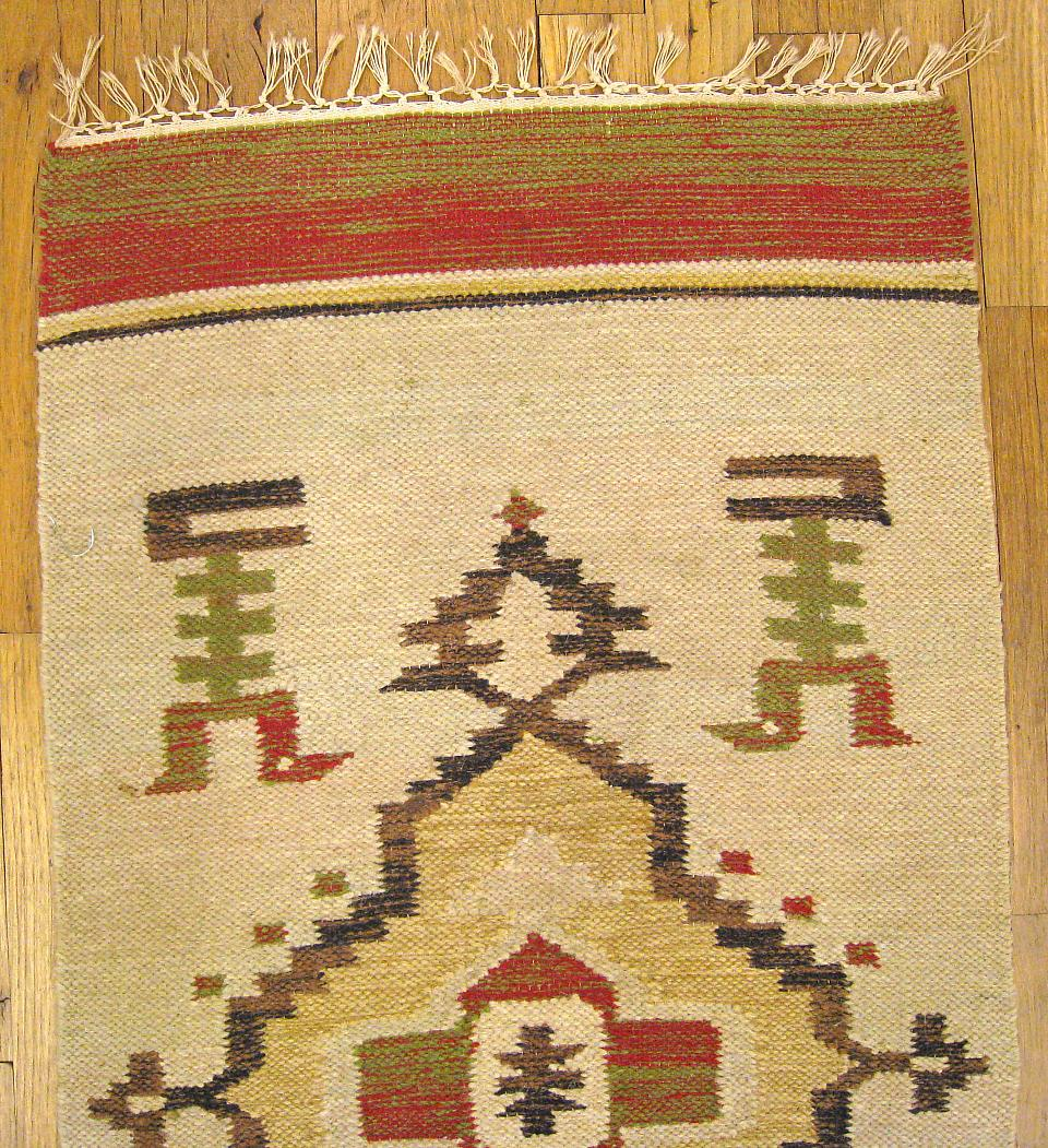 "Vintage Mexican Zapotec Pictorial Rug At 1stdibs: Miscellaneous 3' 3"" X 1' 8"" Vintage American Navajo At"